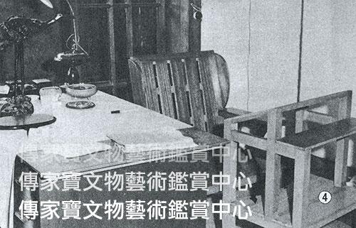 圖38. 溥老1963年病重時所坐之木椅及書案