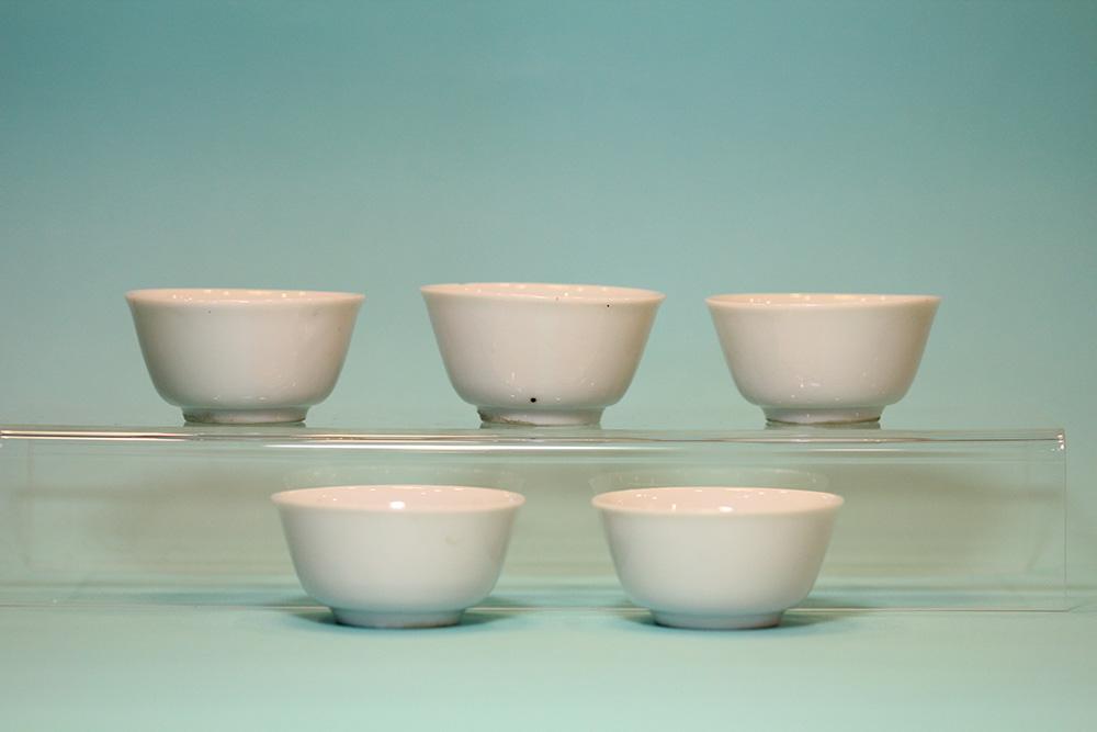 白瓷杯(五入)