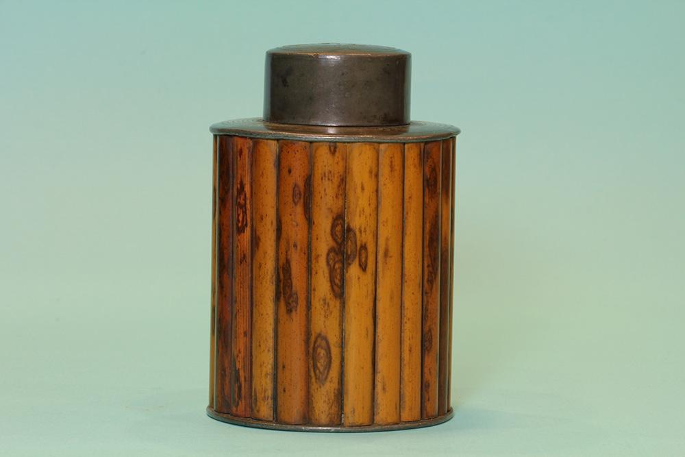 銀絲斑竹茶入(盒)