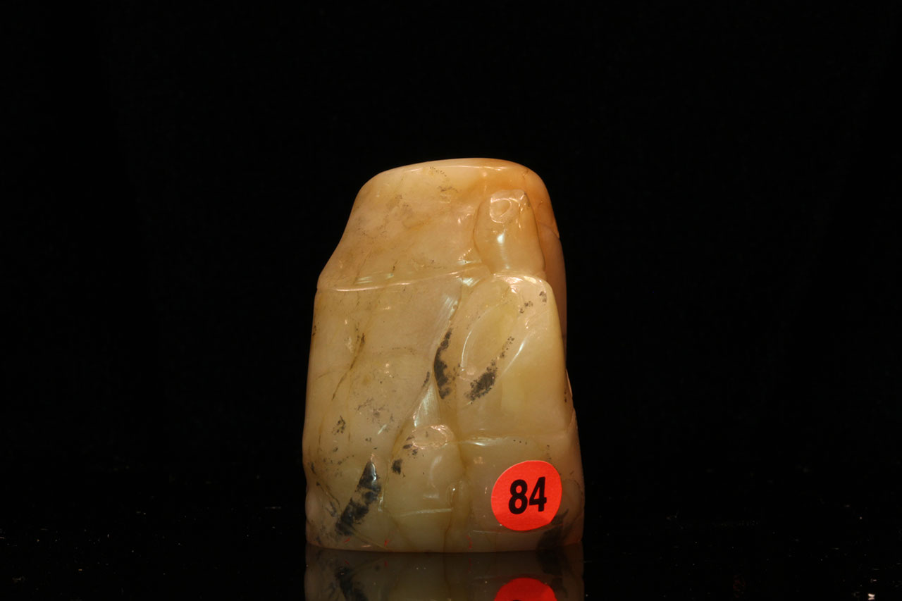 田白石圓雕竹自然形章