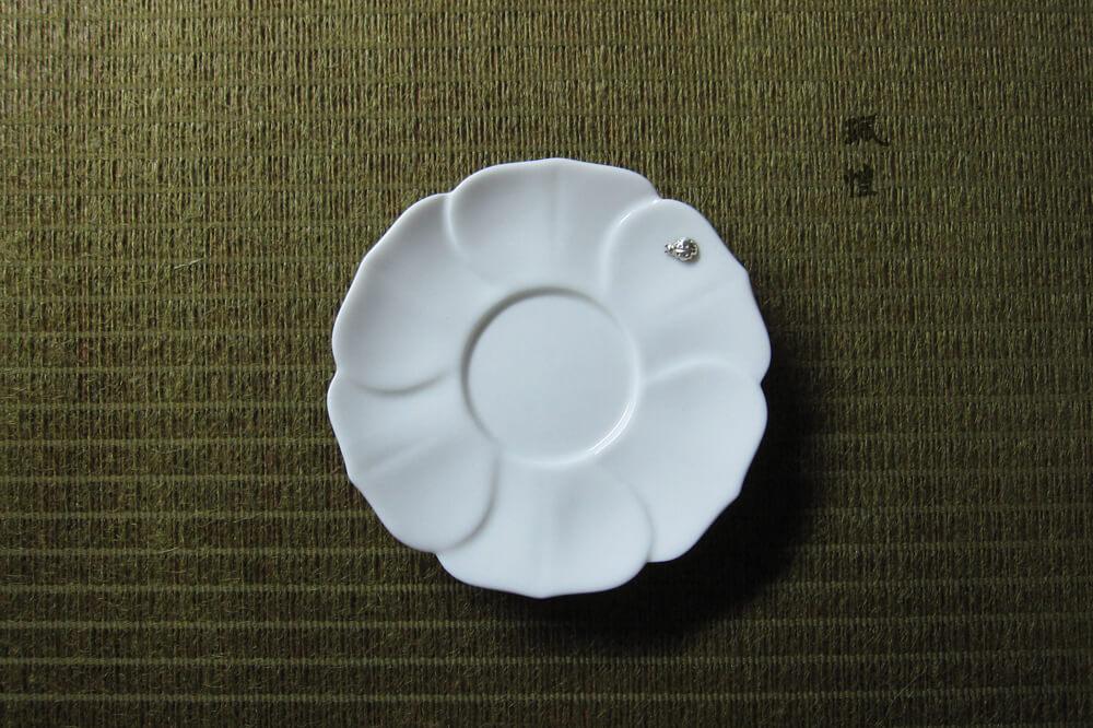 瓢蟲白瓷杯托(花) 03 - 珮愷