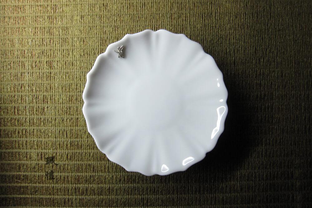 蜻蜓白瓷杯托(花) 03 - 珮愷