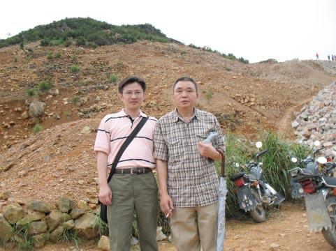 高山石產地與廖老師合影