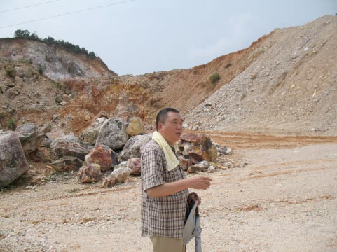 將軍洞前老師解說破壞前地形