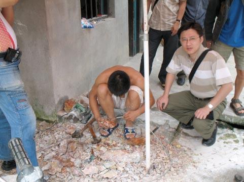 石農剔除芙蓉石中雜質
