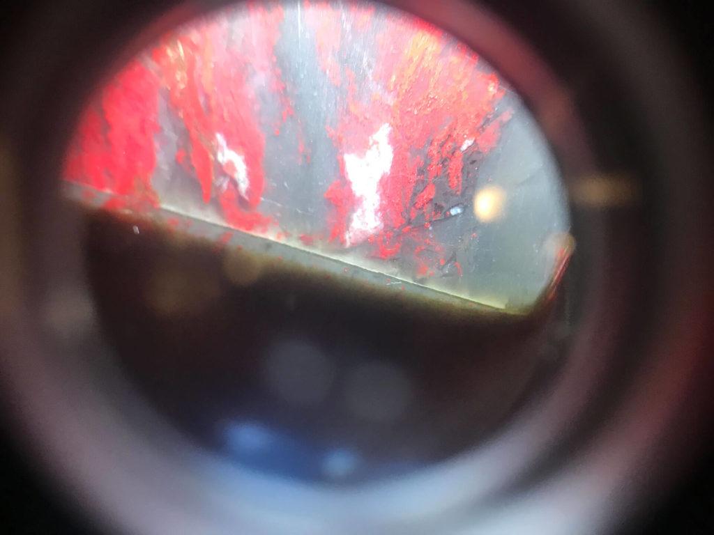 假雞血石-貼皮放大鏡-(3)